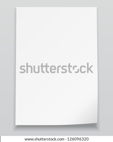 White sheet of paper.Realistic vector background eps10 - stock vector