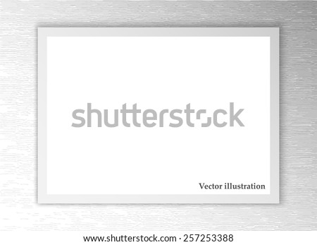 White sheet of paper. Realistic vector background eps10 - stock vector