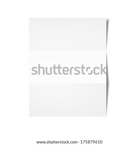 White sheet of paper. Vector eps 10. - stock vector