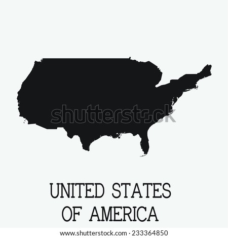 Us Map Stock Vector Shutterstock - Us map white silhouette