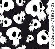 White skulls seamless - stock vector