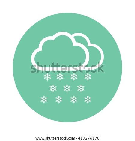 White Snow cloud / winter / weather forecast icon vector illustration - stock vector