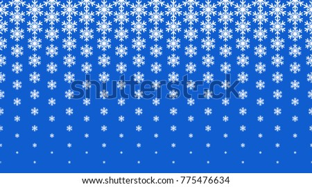 white snowflake, Christmas ornament, border, pattern of halftone effect
