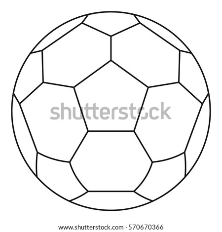 white soccer ball icon line illustration ��������������������