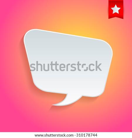 White speech Bubble. - stock vector