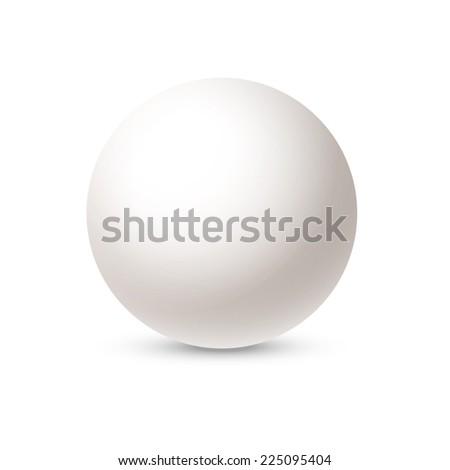 White sphere isolated on white background. Vector illustration. - stock vector