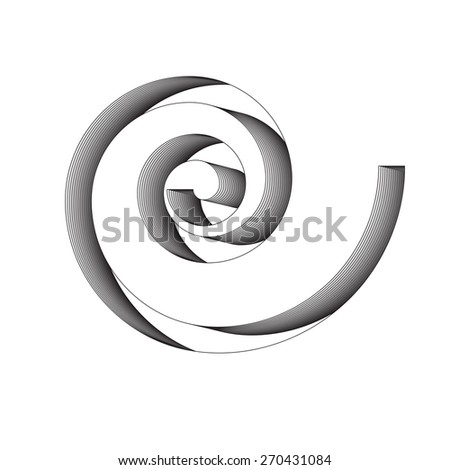 White Spiral with Depth