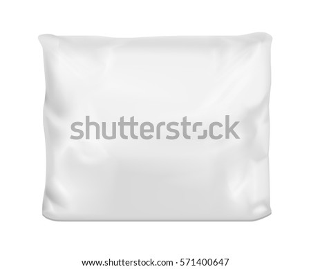 White square pillow. Vector mock up.