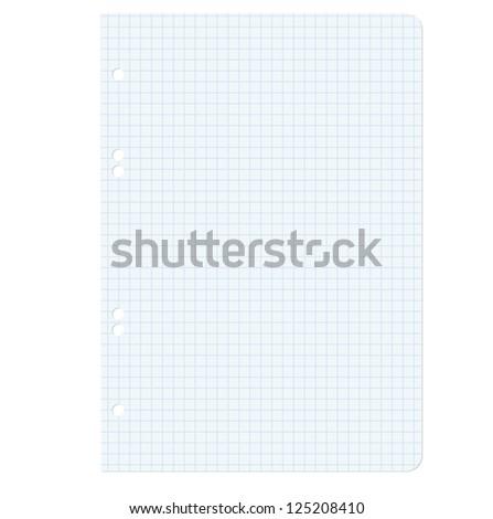 White squared blank white paper sheet. Vector illustration. - stock vector