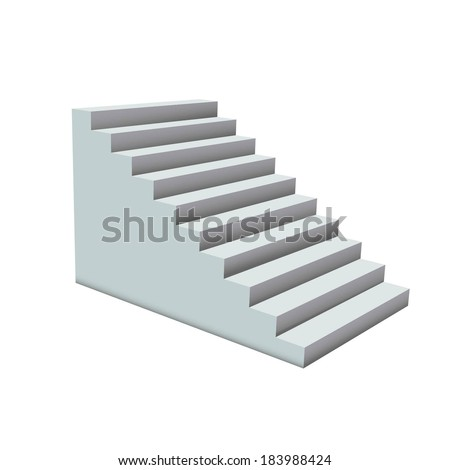 White stairs.  - stock vector
