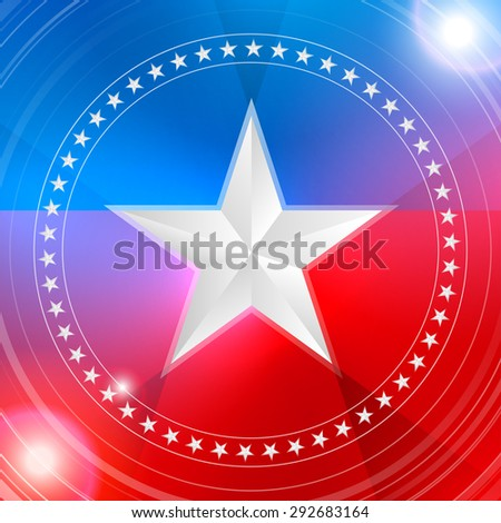 white star in a circular pattern. Background. EPS 10 - stock vector
