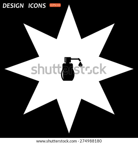 white star on a black background. Shower Gel, Liquid Soap, Lotion, Cream, Shampoo, Bath Foam. icon. vector design - stock vector