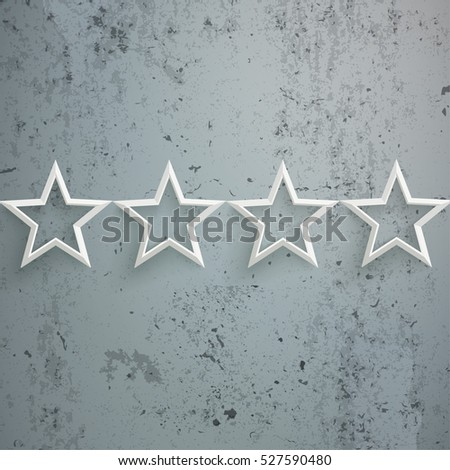 White stars on the concrete background. Eps 10 vector file.