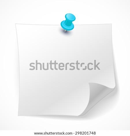 White sticker on a light background. - stock vector