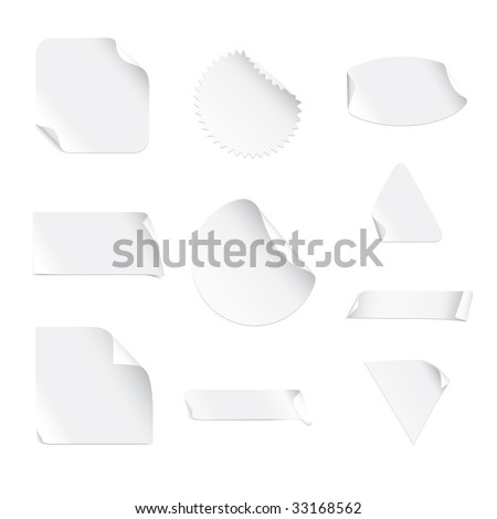 White Stickers (vector). In the gallery also available XXL jpeg image made from this vector - stock vector