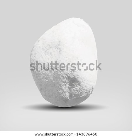 white stone equilibrity. - stock vector