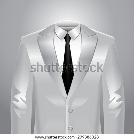 White suit - stock vector