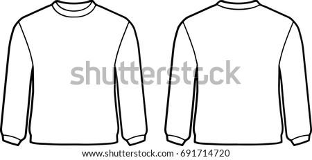 White Sweater Template Stock Vector 691714720 - Shutterstock