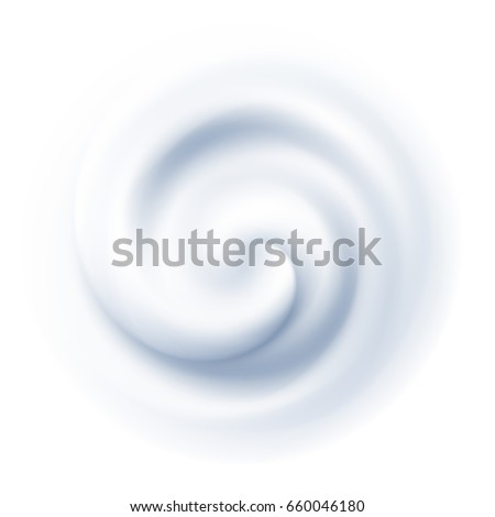 White Swirl Cream Texture Background. Vector illustration EPS10