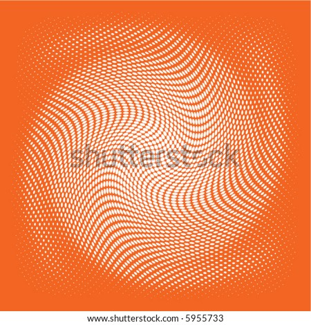 white swirl vector on a dark orange background - stock vector