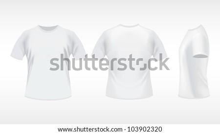 White T-shirt - stock vector