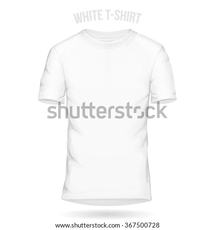 White t-shirt template mens