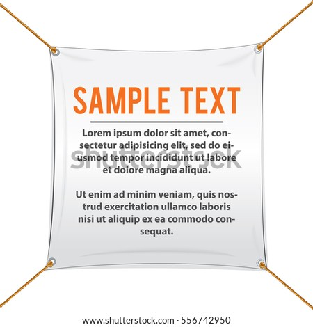 White textile banners vector template ready stock vector - Text banner design ...