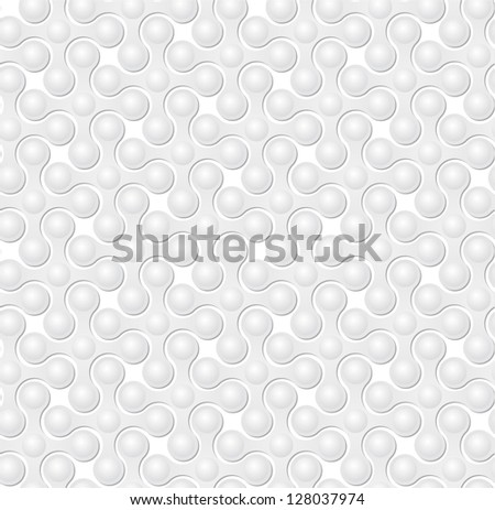 White texture with 3D pattern - stock vector