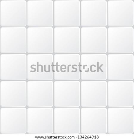 white tile seamless pattern, minimalistic ve?tor background - stock vector
