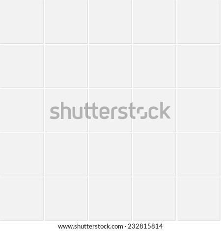 White tile texture, seamless background - eps10. Vector illustration does not contain gradient and transparency - stock vector