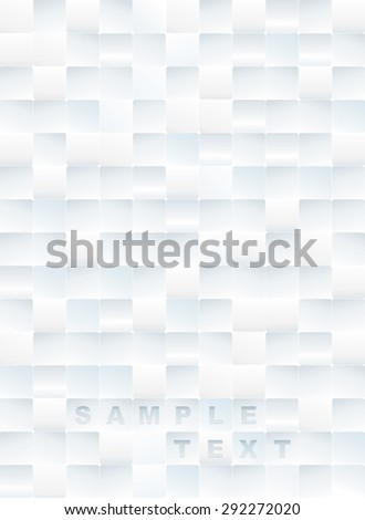 White tiles textured abstract background.  - stock vector