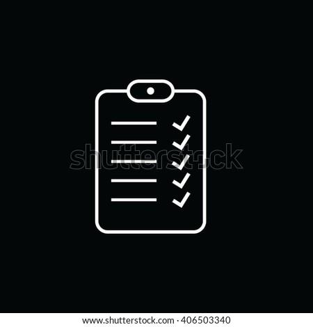 white do list sign vector illustration stock vector royalty free