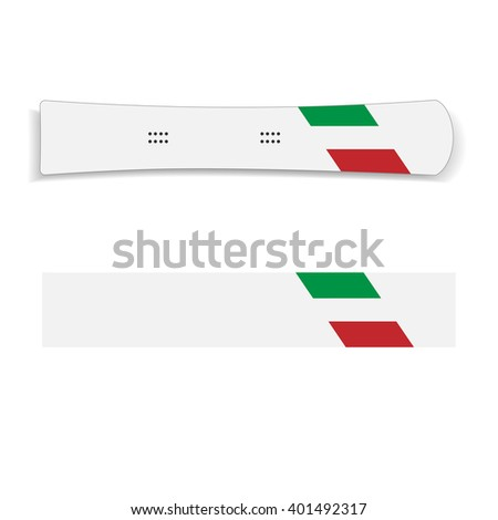 White topsheet with italy flag hard snowboard