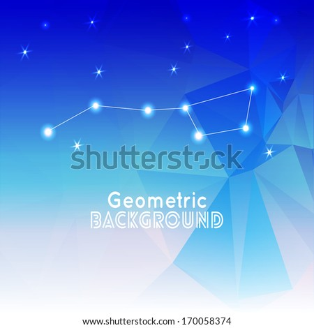 White tracery ornament on  gray and blue background  for your web design - stock vector