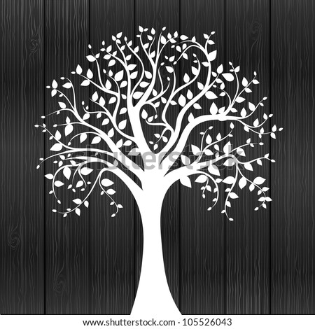 White tree -  individual elements for easy changes