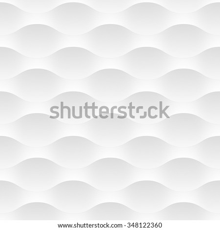 White vector background of abstract waves. Seamless pattern