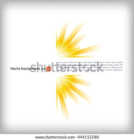 White vector background with sun burst effect - stock vector