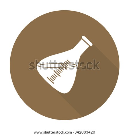White vector experimental glass on color circle background. - stock vector
