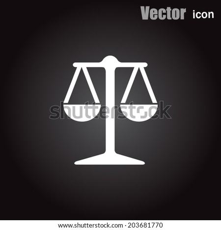 white vector icon on black background - stock vector