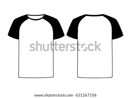 White Vector Males Females Tshirt Template Stock Vector 631267106 ...
