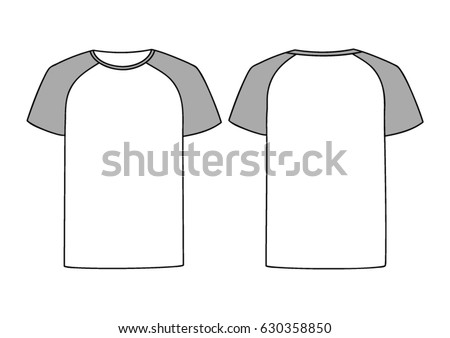 White Vector Males Females Tshirt Template Stock-Vektorgrafik ...