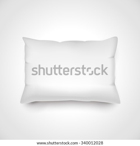 White vector pillow. Realistic blank template for your design. - stock vector