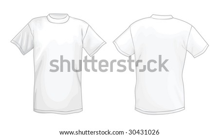 White Vector Tshirt Design Template Front Stock Vector - Tee shirt design template