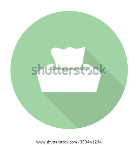 White vector tissues on color circle background. - stock vector