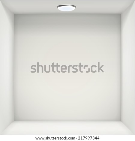 white wall with empty niche for exhibition
