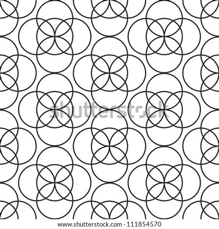 white wallpaper with circles - stock vector