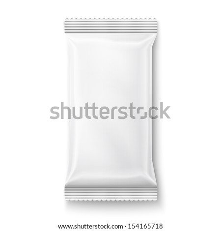 White wet wipes package isolated on white background. Ready for your design. Packaging collection. - stock vector