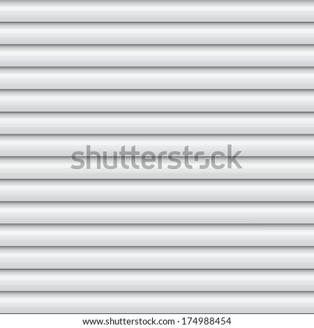 white window blinds shade - stock vector