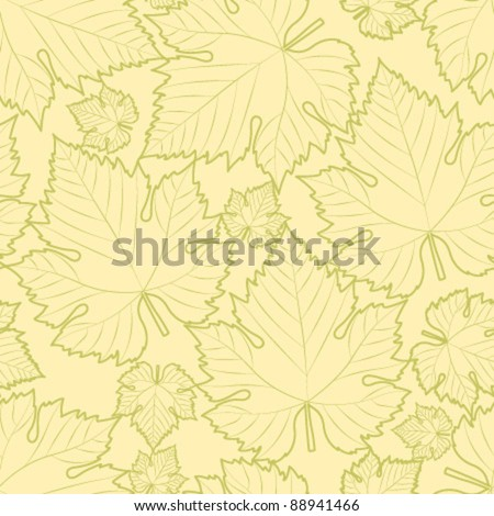 white wine leaf seamless pattern - stock vector