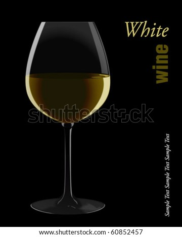 White wine. Vector illustration. - stock vector